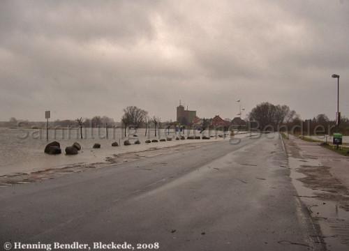 Hochwasser 2008 - Elbstraße