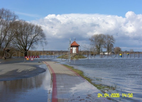 Hochwasser April 2006 - Pegelhäuschen
