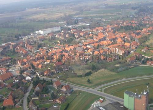 Luftaufnahme Bleckede - Silo