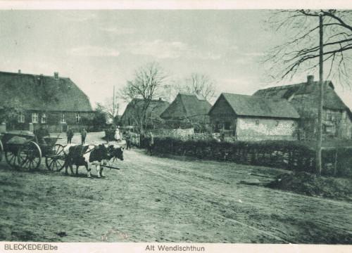 Kuhgespann Dorfplatz Altwendischthun