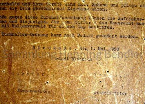 Turnhallen Ordnung 1958 ETGS