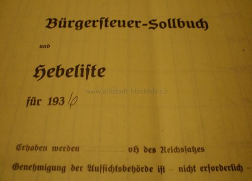 Unterlagen aus der zeit als mein Großvater in Göddingen Bürgermeister war.