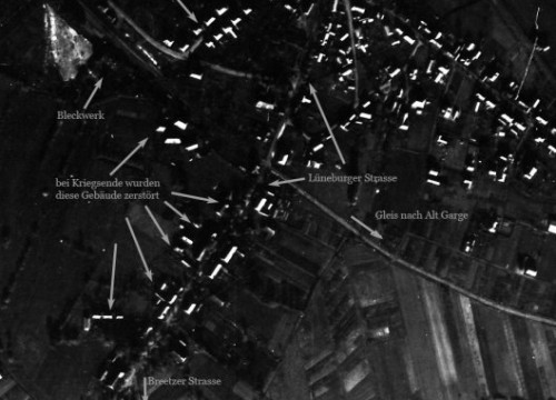 Luftbild Bleckede 1944