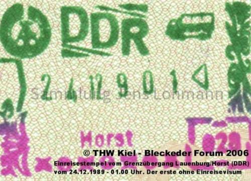 DDR-Einreisestempel 24.12.1989