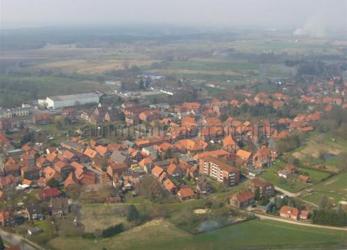 Luftaufnahme Bleckede - Fährweg