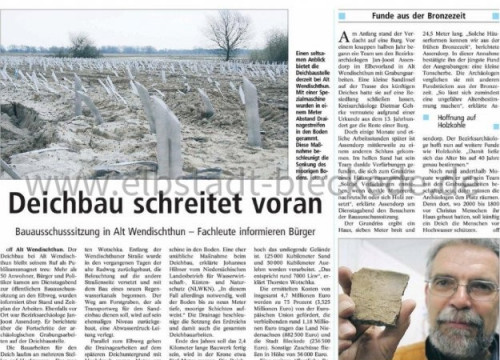 Bericht: Deichbau Alt Wendischthun