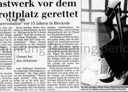 Kunstwerk Elbtalhaus - Bericht 1999