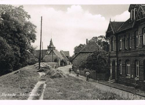 Schloßstraße Blick auf St. Jacobi Kirche, Postamt 1936