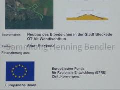 Infoschild Deichbau Alt Wendischthun