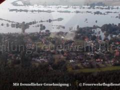 Luftaufnahme Bleckede Hochwasser