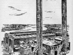 Kraftwerk Alt Garge Zeichnung