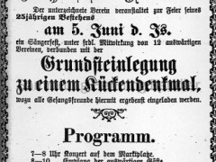 Plakat Grundsteinlegung Kückendenkmal