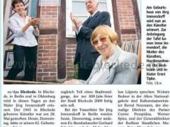 Bericht Immendorff Gedenktafel