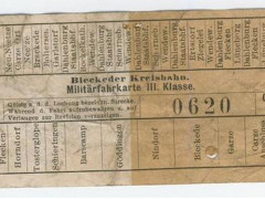 Kreisbahn - Fahrkarte