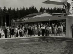Waldbad - Sprungturm 1964