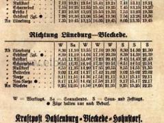 Kleinbahn Fahrplan 1923