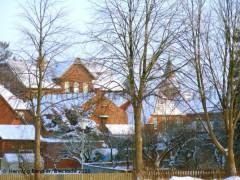 Schnee auf den Dächern