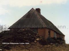 Die Bleicherhütte unmittelbar vor dem Abriß 1986
