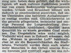 Krankenhaus 1973 - Bericht Teil 11