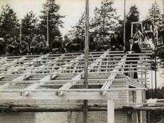Waldbad - Bau Bademeisterraum 1964