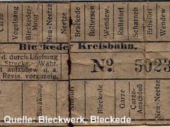 Fahrkarte Kreisbahn 1904