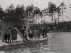 Waldbad 1964 - Rutsche & Turm