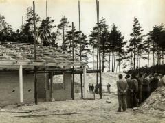 Waldbad - Bau Bademeisterraum - II 1964