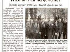 Bericht: Gräber auf Barskamper Friedhof neu hergerichtet