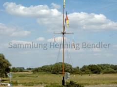 Fahnenmast Hafen Bleckede