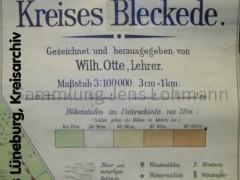 Kreiskarte Kreis Bleckede Herausgeber Wilh Otte