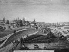 Federzeichnung von 1853 (Ausschnitt, Mittelteil)
