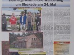 Bericht Wanderung um Bleckede 2008