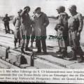 Montgomery auf der Pontonbrücke 1945