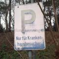 Parkplatzschild Krankenhaus